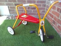 Vintage Raleigh Little Lamb Children's Trike kids bicycle Antique tricycle 1950's 60's