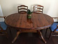 Solid Wood Oval Extending Dinning Table - 6~8 seater