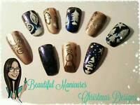 Christmas Gel Polish Manicures