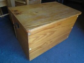 Pine storage box. toy box