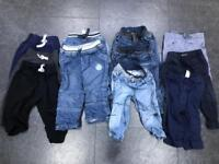 11 x boys jeans trousers jogging bottoms 12-18 months