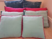 Bedroom/lounge cushions x 8 different sizes Next etc fur