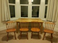 Dining table and 4 chairs (CAN DELIVER)