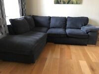 Grey Corner Sofa and Two Seater Sofa
