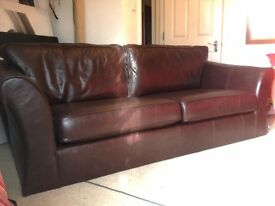 large leather sofa ( great condition)