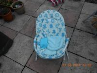 Childs blue bouncy chair
