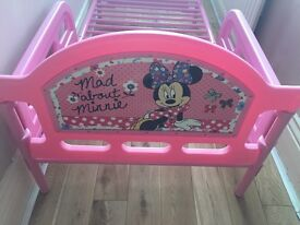 Minnie Mouse toddler bed . Excellent condition .