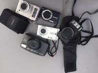 A collection of 5 digital cameras