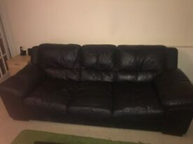 Black sofa for free collection at raynes park sw20
