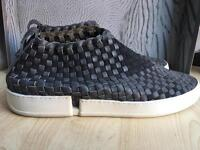 Casbia grey woven uk9, 43 leather no laces shoes