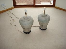 2 x Egyptian Style Table Lamps VGC