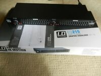LD Systems EQ 215 stereo Graphic EQ, Mint in Original Box, Very Light Use.