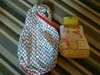 Grosnug newborn 2 in 1 swaddle sleeping bag
