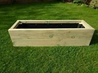 "Raised bed trough planter box 1.2x0.4m 12"" deep"