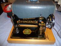 Vintage 66K Singer Sewing Machine 1917