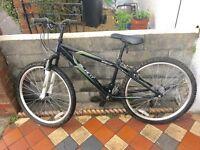Apollo slant Boys mountain bike 18 gears 14 inch frame 26 inch wheels alloy wheels front suspension
