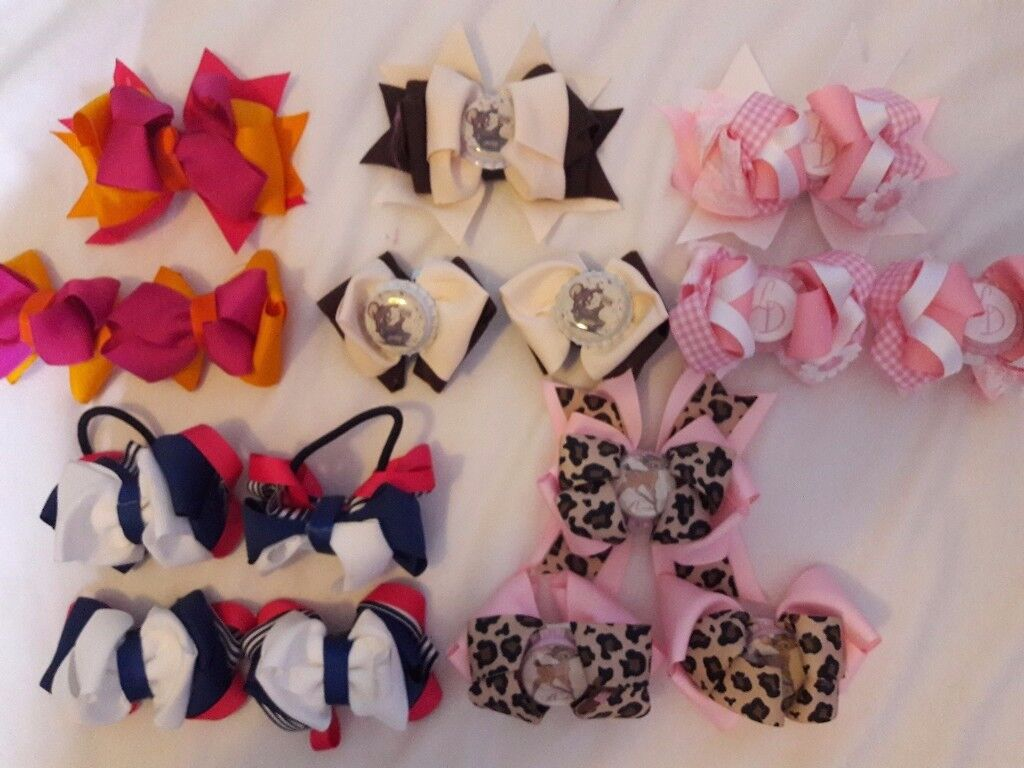 homemade bows with matching sock bows