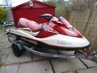 2002 SEADOO GTX LTD. 4-TEC,3-SEATER JETSKI,ONLY 67-HOURS,TRAILER INCLUDED.