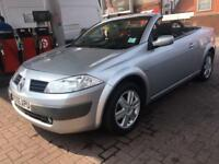 RENAULT MEGANE 1.6 CONVERTABLE AUTOMATIC VERY LOW MILES DRIVES PERFECT 2007 SLIGHT DAMAGE