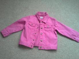 Mamas & Papas Girls pink jacket age 3-4.