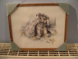 Pair dog prints new and sealed