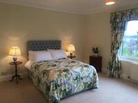 Beautiful Curtains, Pelmet and two matching single bedspreads