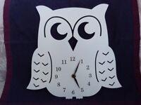 Owl wall clock & photo frame. Both very nice designs. Gift / present?