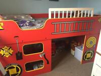 Fire Engine Mid-Sleeper Single Bed