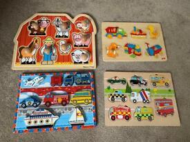 Children's wooden jigsaws