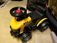 Childs ride on jcb with lift up lid