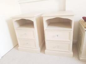 2 X Wooden Bed Side Units