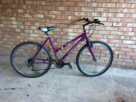 Purple mountain bike £35.00