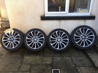 """22"""" GENUINE RANGE ROVER VOGUE STYLE 7 TURBINE ALLOY WHEELS AND TYRES"""