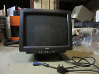 Dell black monitor, big backed type