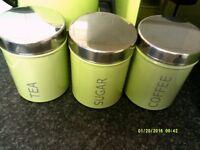 STORAGE TINS FOR T/COFFEE/BREAD ETC PLUS TOASTER ETC