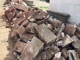 Free stones rubble hardcore