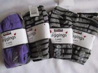 NEW Kirkland Girls 2 pack Leggings Full Length Ages 3, 4, 5/6, 6/7 - ONLY £4.99 for Pack of 2
