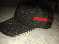 Brand New Black Gucci Caps with tags For Sale!
