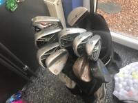 Men's golf set. Titleist, Taylormade, Wilson etc