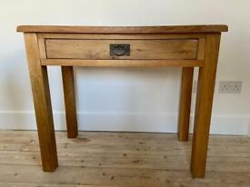 Solid Oak Desk or Console Table