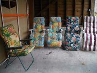 Garden chairs/loungers