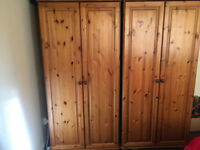 Wardrobe in great condition with two small cupboards with it