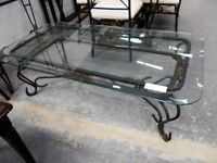 Glass and Metal Coffee Table…31777A