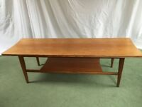 Mid century teak coffee table made by Richard Hornby for Heals 1960's
