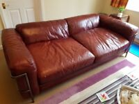 Large antique leather sofa
