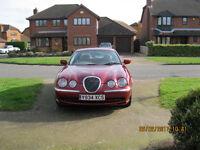 S Type Jaguar Low mileage, reasonable condition.