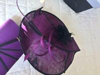 Bride's mother hat and bag