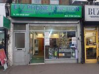 Phone Shop For Sale On Hoe St. With Storage room and kitchen
