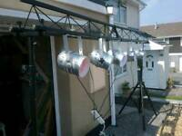Truss Light Stand Bridge Gantry 3M length Mobile 8-9ft Height.