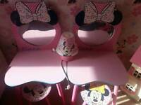 Girls bed side tables ( minnie mouse)